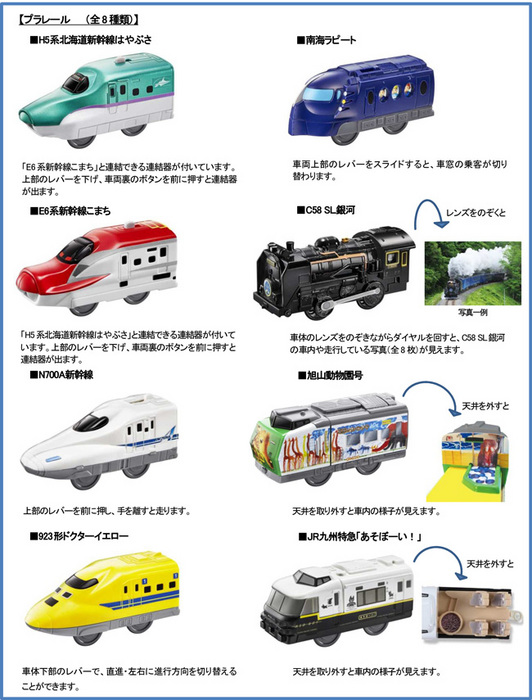 ハッピーセット、プラレール8種類おもちゃ2016年10月14日.jpg