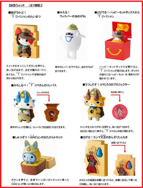 ハッピーセット次回12月~1月「妖怪ウォッチ」7種類おもちゃ.jpg